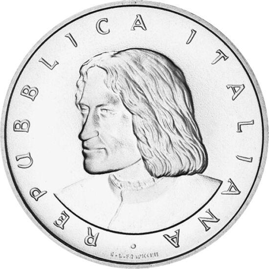 """// 500 líra, 835-ös ezüst, Olaszország, 1992 // - 1492-ben hunyt el Lorenzo de' Medici, a firenzei uralkodó család legkiemelkedőbb alakja. Erős, férfias, okos és nagy életerejű volt, amiért már életében """"Il Magnofico""""-nak, azaz tündöklőnek nevezték. A nag"""