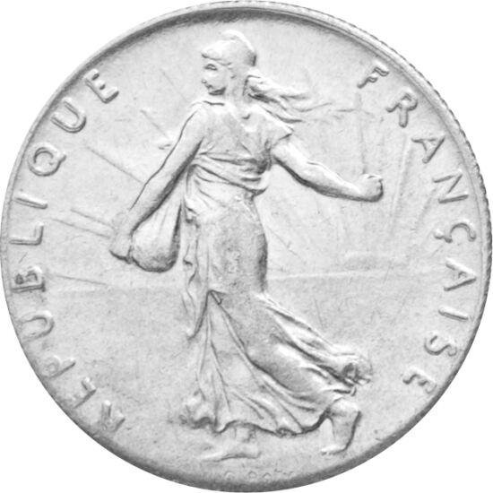 // 50 centime, 835-ös ezüst, Franciaország, 1897-1920 // - A magvető Marianne alakját 1897-ben alkotta meg Louis Roty francia érmetervező. A frígiai sapkás nő oly kedveltté vált, hogy sok francia érmén, majd a francia euró cent érmén is megjelent. Sőt, má
