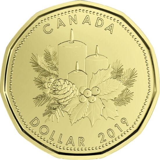 // 5, 10, 25 cent, 1, 2 dollár, Kanada, 2019 // - Kanada egy gyönyörű díszcsomagolt forgalmi sorral teszi teljesség az ünnepi hangulatot! A speciális karácsonyi kibocsátás tartalmaz egy különleges 1 dollárt is, ami csak ebben a díszcsomagolt szettben jele