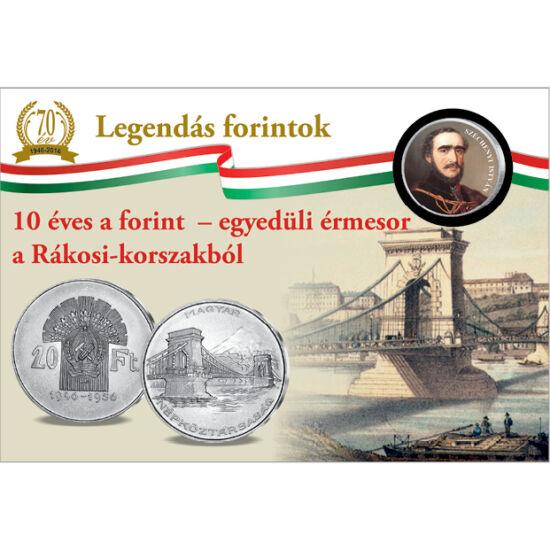 // 50 cent, Európai Unió, 2002-2019 // - Budapest első és leghíresebb hídjának építését Széchenyi István kezdeményezte. A híd építésének munkálatai 180 évvel ezelőtt, 1839-ben kezdődtek, a kész hidat pedig 10 évvel később 1849. november 20-án adták át. Ez