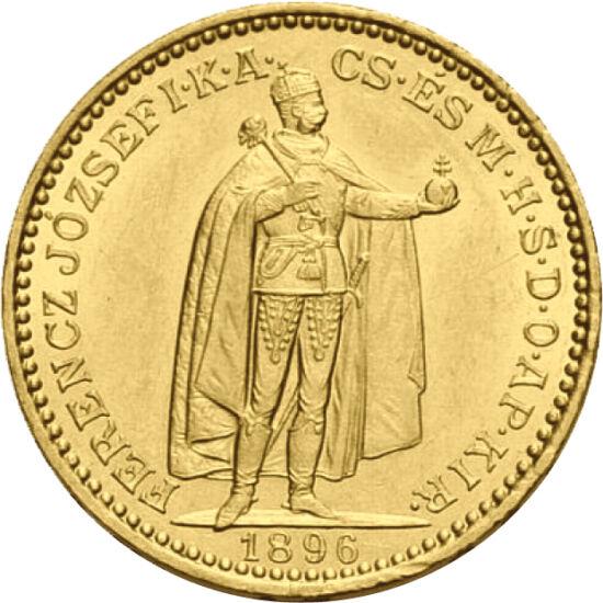 // 20 korona, 900-as arany, Osztrák–Magyar Monarchia, 1892-1915 // - Ferenc József eredeti, 100 éves arany verete egyszerre szép és értékálló. Megjelenése óta, immár egy évszázada a magyar polgárság kedvelt aranytartaléka. Nemzedékek óta testesíti meg a c