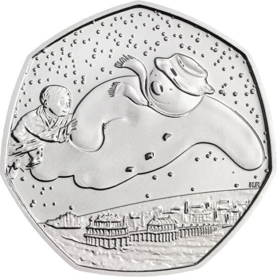 // 50 penny, Nagy-Britannia, 2018 // - Hogy lehet 40 éves a hóember? Egyrészt nem éri meg a tavaszt, másrészt a gyerekek mindig is építettek hóembert. Raymond Briggs 40 éve írta az azóta klasszikussá vált meséjét, melynek rajzfilm változata több díjat is