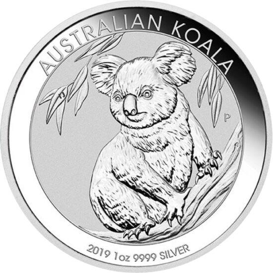 // 1 dollár, 999-es ezüst, Ausztrália, 2019 // - Ausztrália szimbólumállata a kipusztulás szélére jutott. Amikor az első európai több mint kétszáz esztendeje Ausztrália földjére lépett, még úgy 10 millió koala lakhatta az 5. kontinenst. Mára minden védelm