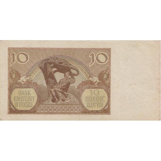 // 10 zloty, Lengyelország, 1940 // - A náci Németország 1939-ben megszállta Lengyelországot. 1940-től kivonta a forgalomból az addigi bankjegyeket és érméket. Az új fizető eszközök is lengyel motívumokat hordoztak. A váltás üzenete a teljes hatalomátvéte