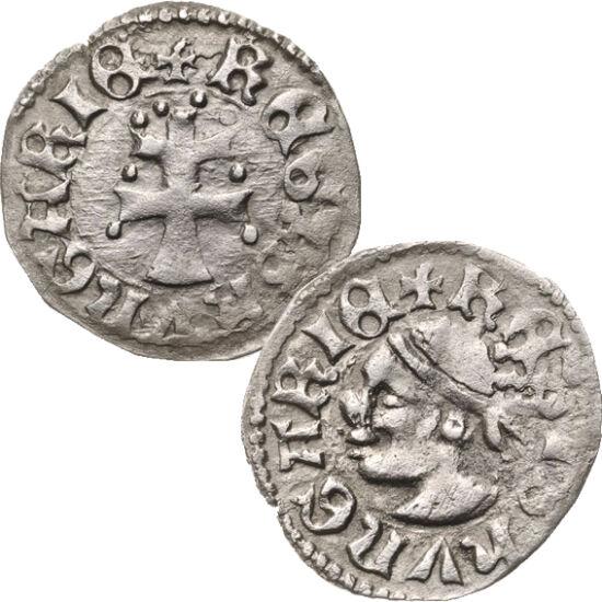 """// denár, 600-as ezüst, Magyar Királyság, 1342-1382 // - Nagy Lajos uralkodása a középkori Magyarország fénykora volt. Jelentős szerepet játszott ebben a király ravasz kincstárnoka, """"Szerecsen"""" Jakab. Ritka, hogy az érme előlapján nem az uralkodó képe lát"""