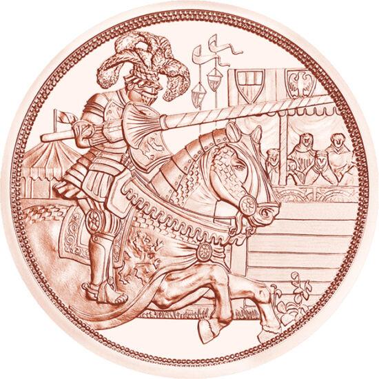 """// 10 euró, Ausztria, 2019 // - A fennállásának 825. évfordulóját ünneplő osztrák pénzverde újabb, öt részes lovagi érmesort indít. A """"Lovagok meséje"""" című érmesor első darabja I. Miksa német-római császárnak, reneszánsz uralkodónak állít emléket, aki lel"""