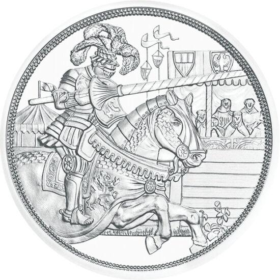 """// 10 euró, 925-ös ezüst, Ausztria, 2019 // - A fennállásának 825. évfordulóját ünneplő osztrák pénzverde újabb, öt részes lovagi érmesort indít. A """"Lovagok meséje"""" című érmesor első darabja I. Miksa német-római császárnak, reneszánsz uralkodónak állít em"""