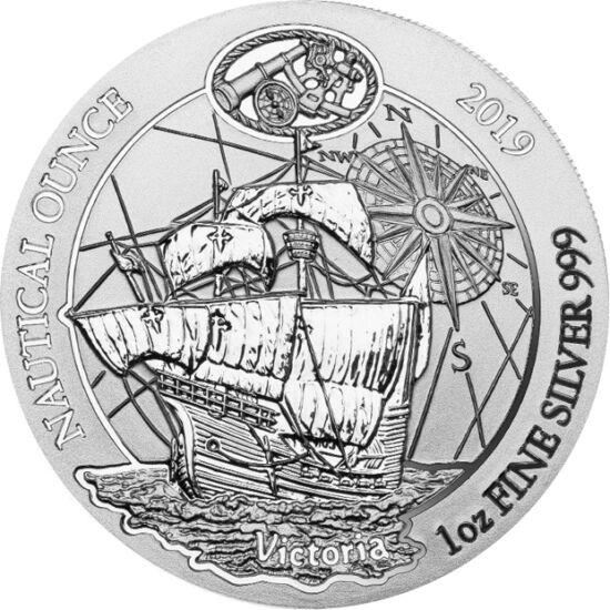 // 50 frank, 999-es ezüst, Ruanda, 2019 // - Ferdinánd Magellán öt hajóval indult el Spanyolországból 1519-ben. A vezérhajó a Victoria volt, kísérő a Trinidad, a San Antonio, a Concepcion és a Santiago. Mind az öt tengerjáró karakk típusú hajó volt. Az ez