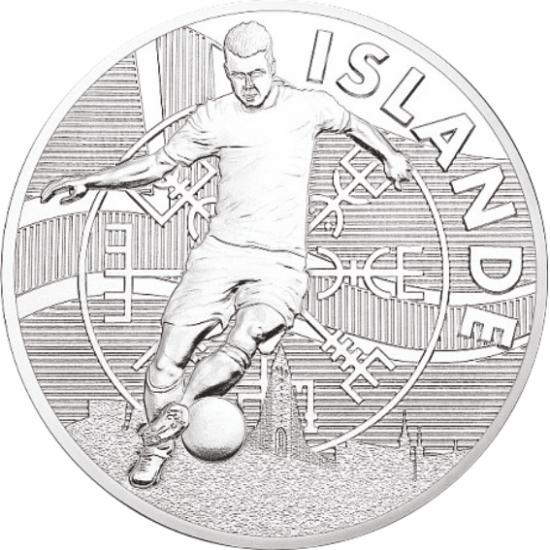 UEFA 2016 foci emlékérem - Izland